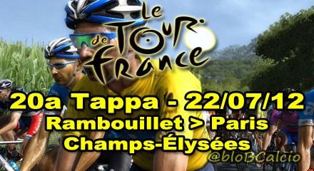 Tour de France 2012: 20a tappa Rambouillet - Paris Champs-Élysées, streaming diretta live 22/07/2012